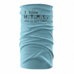 Бандана-труба I know html how to meet ladies