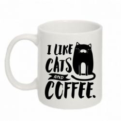 Кружка 320ml I like cats and coffee