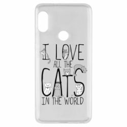 Чехол для Xiaomi Redmi Note 5 I Love all the cats in the world