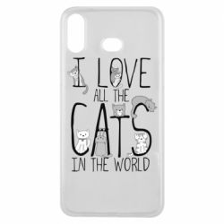 Чехол для Samsung A6s I Love all the cats in the world