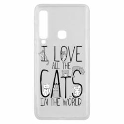 Чехол для Samsung A9 2018 I Love all the cats in the world
