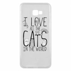 Чехол для Samsung J4 Plus 2018 I Love all the cats in the world