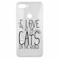 Чехол для Xiaomi Mi8 Lite I Love all the cats in the world