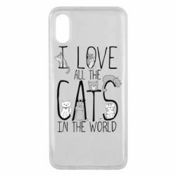 Чехол для Xiaomi Mi8 Pro I Love all the cats in the world