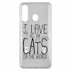 Чехол для Samsung M40 I Love all the cats in the world