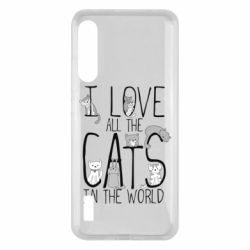 Чохол для Xiaomi Mi A3 I Love all the cats in the world