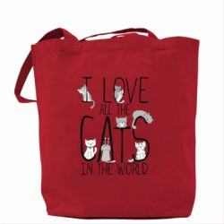 Сумка I Love all the cats in the world