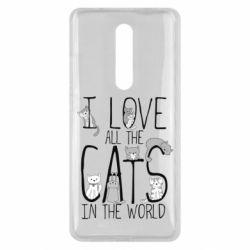 Чехол для Xiaomi Mi9T I Love all the cats in the world