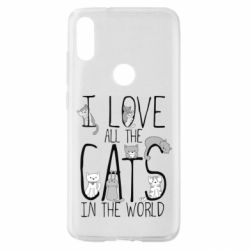 Чехол для Xiaomi Mi Play I Love all the cats in the world