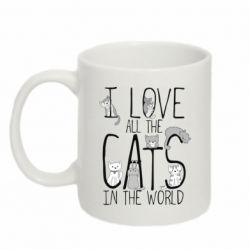 Кружка 320ml I Love all the cats in the world