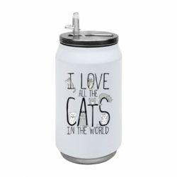 Термобанка 350ml I Love all the cats in the world