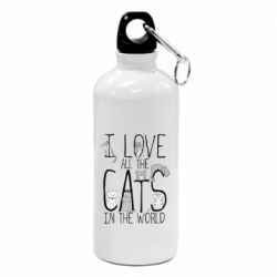 Фляга I Love all the cats in the world