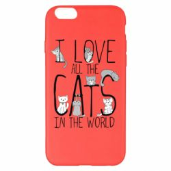 Чехол для iPhone 6 Plus/6S Plus I Love all the cats in the world