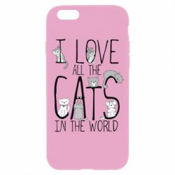 Чехол для iPhone 6/6S I Love all the cats in the world