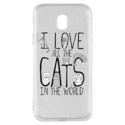 Чехол для Samsung J3 2017 I Love all the cats in the world