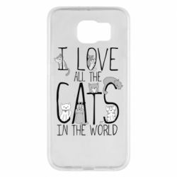 Чехол для Samsung S6 I Love all the cats in the world