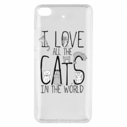 Чехол для Xiaomi Mi 5s I Love all the cats in the world