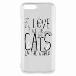 Чехол для Xiaomi Mi6 I Love all the cats in the world