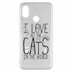 Чехол для Xiaomi Mi8 I Love all the cats in the world