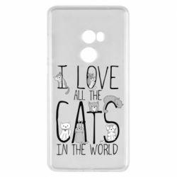 Чехол для Xiaomi Mi Mix 2 I Love all the cats in the world