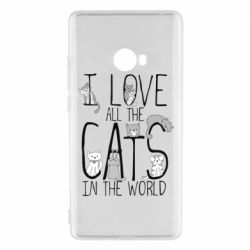 Чехол для Xiaomi Mi Note 2 I Love all the cats in the world