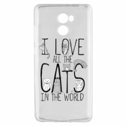 Чехол для Xiaomi Redmi 4 I Love all the cats in the world