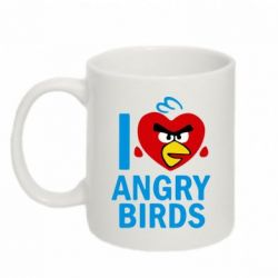 Кружка 320ml I love Angry Birds