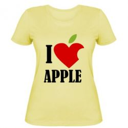 Жіноча футболка I love APPLE