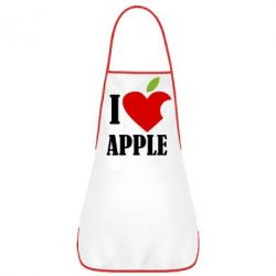 Фартуx I love APPLE - FatLine