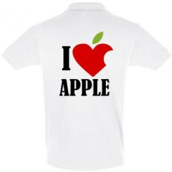 Футболка Поло I love APPLE - FatLine