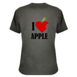 Камуфляжна футболка I love APPLE