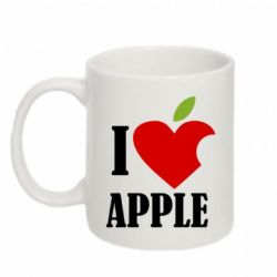 Кружка 320ml I love APPLE - FatLine