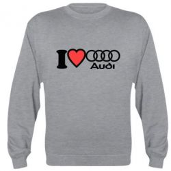 Реглан (свитшот) I love audi - FatLine