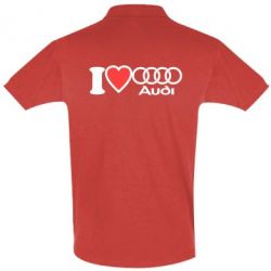 Футболка Поло I love audi - FatLine