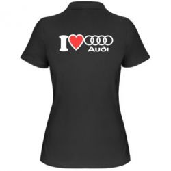 Женская футболка поло I love audi