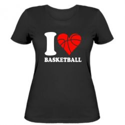 Жіноча футболка I love basketball