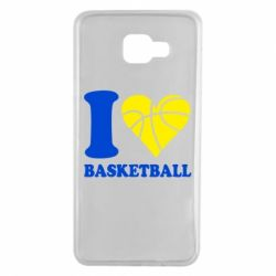 Чехол для Samsung A7 2016 I love basketball