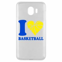 Чехол для Samsung J4 I love basketball
