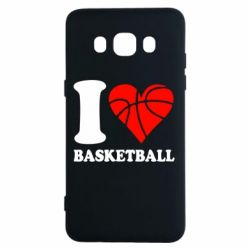 Чехол для Samsung J5 2016 I love basketball