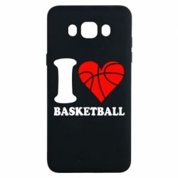 Чехол для Samsung J7 2016 I love basketball