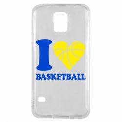 Чехол для Samsung S5 I love basketball