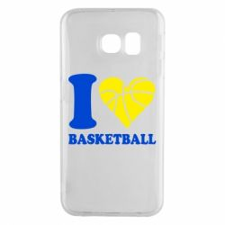 Чехол для Samsung S6 EDGE I love basketball