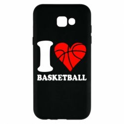 Чехол для Samsung A7 2017 I love basketball
