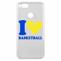 Чехол для Xiaomi Mi A1 I love basketball