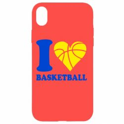 Чехол для iPhone XR I love basketball