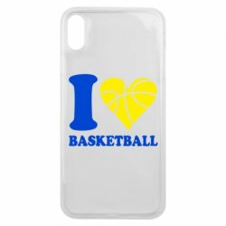 Чехол для iPhone Xs Max I love basketball