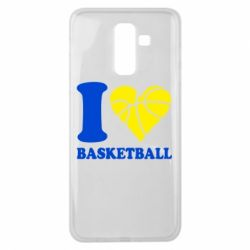 Чехол для Samsung J8 2018 I love basketball