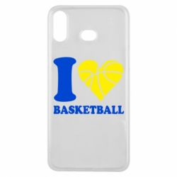 Чехол для Samsung A6s I love basketball