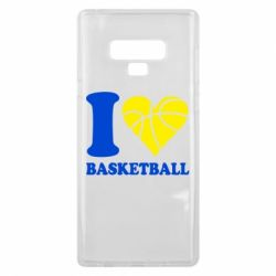 Чохол для Samsung Note 9 I love basketball