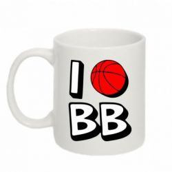 Кружка 320ml I love basketball